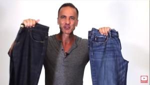 dois tipos de calça jeans
