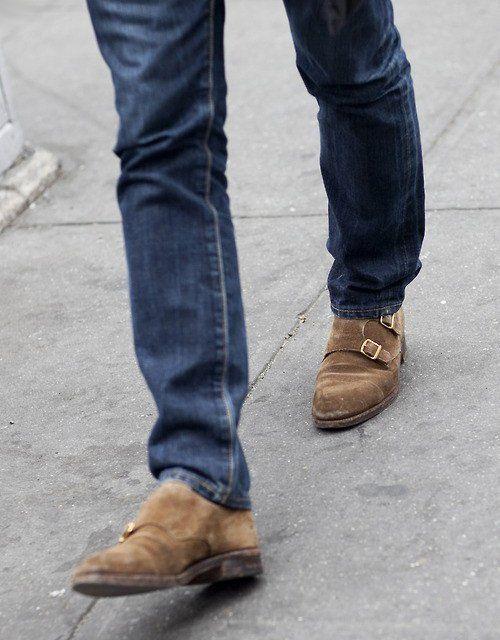 calça jeans masculina com sapato casual