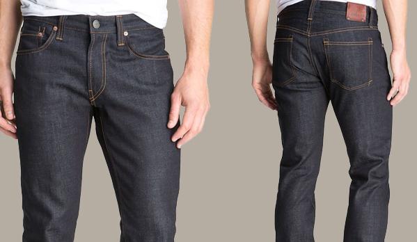 calça jeans masculina escura crua