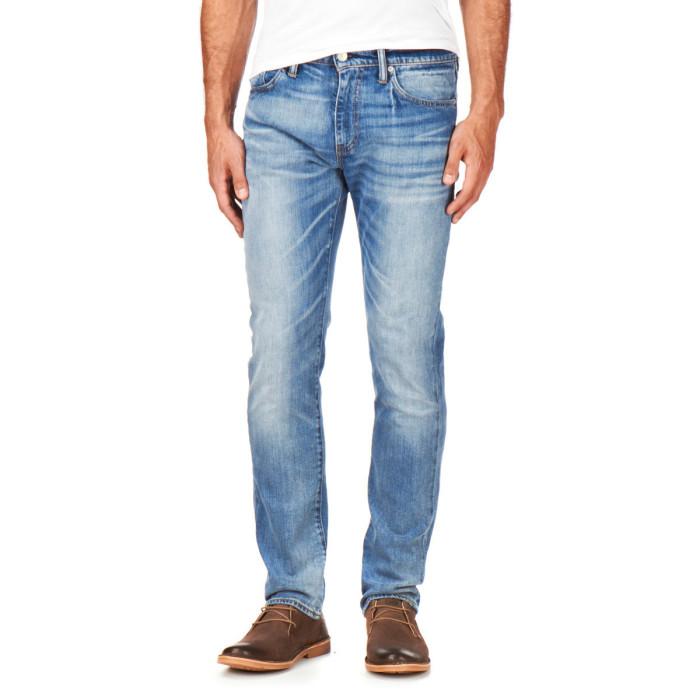 calça jeans masculina lavada