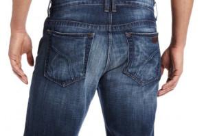 traseiro de calça jeans homem