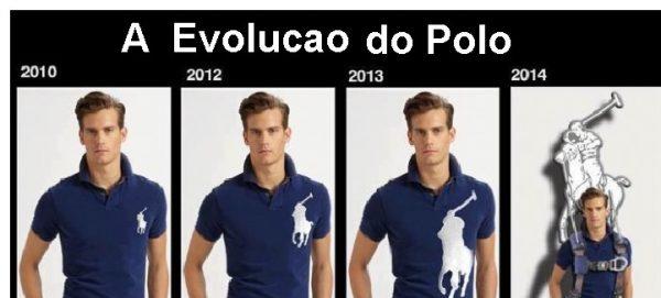 evolução da camisa polo brasão de marca