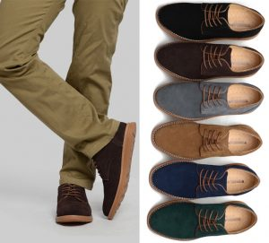 sapatos casuais de camurça