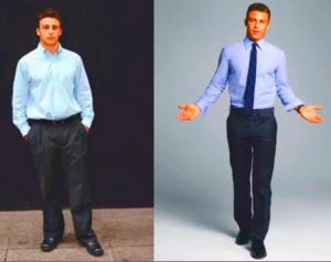 homem com roupa social ajustada