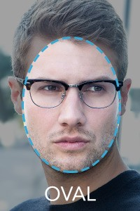 armação de óculos para rosto oval