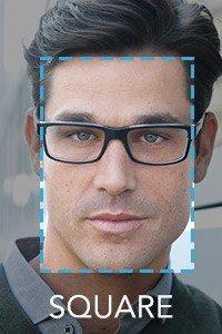 armação de óculos para rosto quadrado