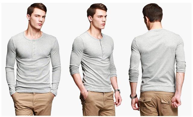 moda atemporal-Camisa Henley