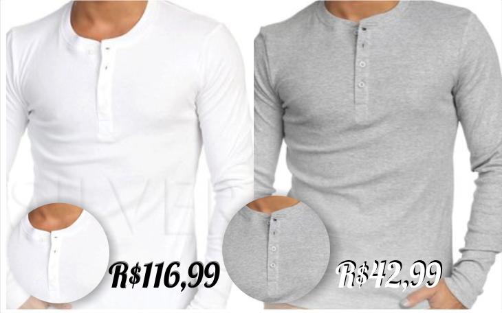 d57e18acd8c2f Onde comprar Camisas Henley por Preço Acessível