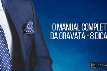 miniatura manual completo da gravata