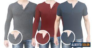 camisas henley estilo new old