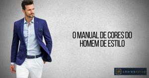 Manual de cores do homem de estilo