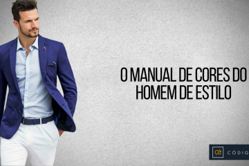 Manual de cores do homem de estilo