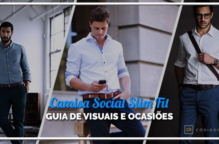 8bce14bfd0 Camisa social slim fit  Guia de visuais e ocasiões - Alberto Solon