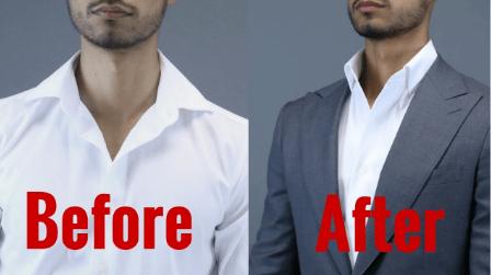 colarinho de camisa social desalinhado