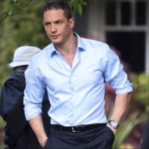 Camisa social masculina azul clara