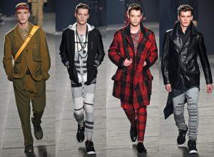 homens vestindo tendencias de moda
