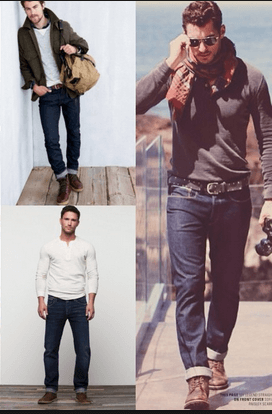 homens estilosos com barra dobrada