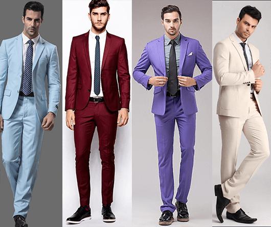 Homens usando costumes multicoloridos