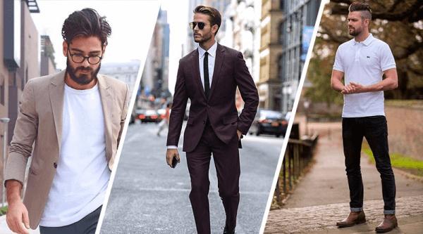 Diferentes homens com diferentes estilos