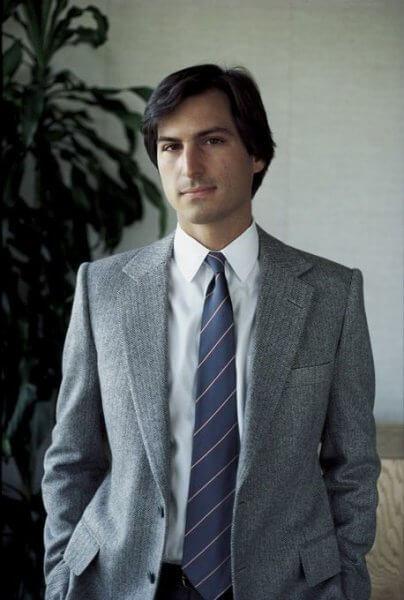 Steve Jobs Jovem de terno