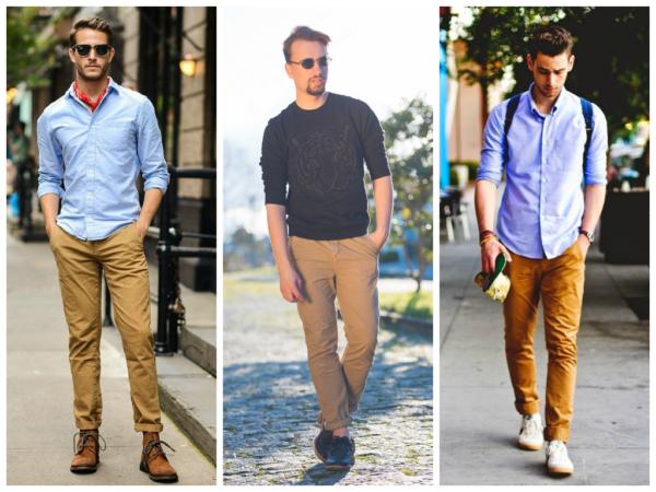 homens com calças combinando com camisas