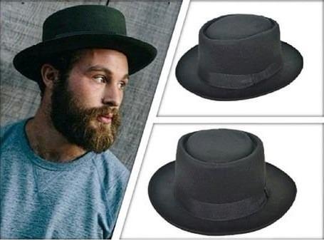 homem usando chapéu pork pie